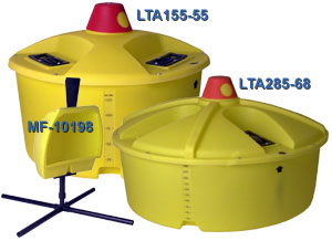 Lick wheel feeders for cattle