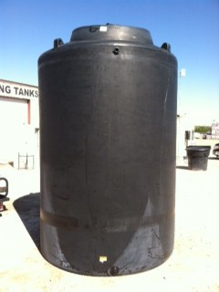 5000 Gallon Vertical Water Tank Black